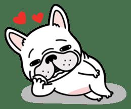 French bulldog Gomaco and Hana 2 English sticker #7923713