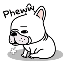 French bulldog Gomaco and Hana 2 English sticker #7923714