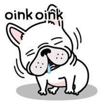 French bulldog Gomaco and Hana 2 English sticker #7923715