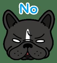 French bulldog Gomaco and Hana 2 English sticker #7923719