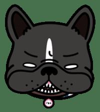 French bulldog Gomaco and Hana 2 English sticker #7923721