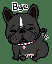 French bulldog Gomaco and Hana 2 English sticker #7923729