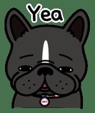 French bulldog Gomaco and Hana 2 English sticker #7923734