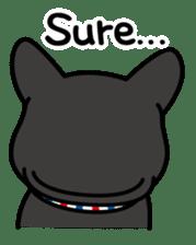 French bulldog Gomaco and Hana 2 English sticker #7923735