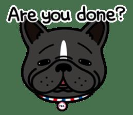French bulldog Gomaco and Hana 2 English sticker #7923737