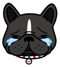 French bulldog Gomaco and Hana 2 English sticker #7923738