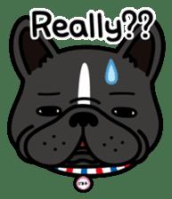 French bulldog Gomaco and Hana 2 English sticker #7923739