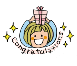congratulations and thank you stickers sticker #7926358