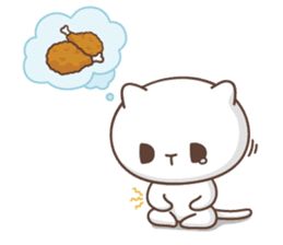 Jobless kitty sticker #7929893