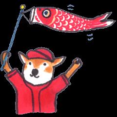 The red baseball dog
