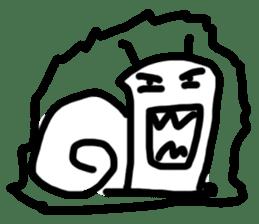 Moody Snail sticker #7942805
