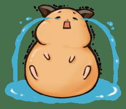 Chubby Mochi Hamster sticker #7947802