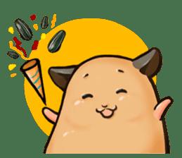 Chubby Mochi Hamster sticker #7947807