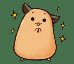 Chubby Mochi Hamster sticker #7947808
