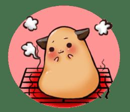 Chubby Mochi Hamster sticker #7947809