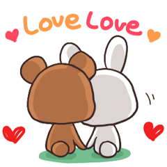 Always together Rabbit & Bear's love3