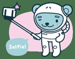 Jokukuma, the Space Bear sticker #7972727