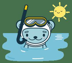 Jokukuma, the Space Bear sticker #7972731