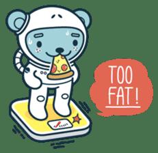 Jokukuma, the Space Bear sticker #7972733