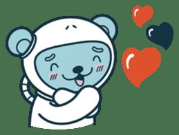 Jokukuma, the Space Bear sticker #7972744