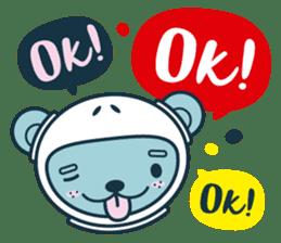Jokukuma, the Space Bear sticker #7972750