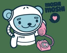 Jokukuma, the Space Bear sticker #7972756
