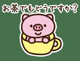 Pig moderate honorific sticker #7973864
