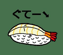 Cute Sushi talks! sticker #7975601