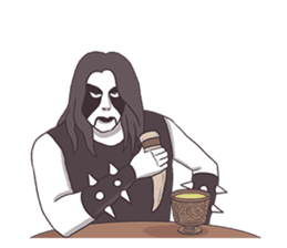 Daily Live of Black Metal sticker #7980176