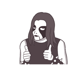 Daily Live of Black Metal sticker #7980178