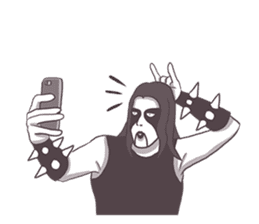Daily Live of Black Metal sticker #7980191