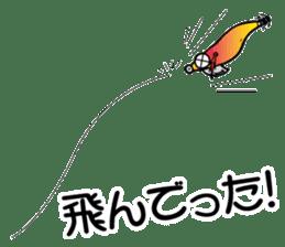 oval squid (aori ika) sticker no.2 sticker #7988128