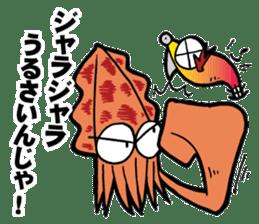 oval squid (aori ika) sticker no.2 sticker #7988129