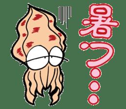 oval squid (aori ika) sticker no.2 sticker #7988137