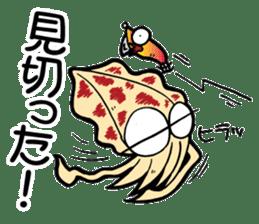 oval squid (aori ika) sticker no.2 sticker #7988149