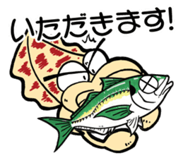 oval squid (aori ika) sticker no.2 sticker #7988154