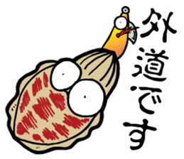 oval squid (aori ika) sticker no.2 sticker #7988161