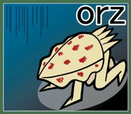 oval squid (aori ika) sticker no.2 sticker #7988162