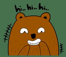 Boobaa Bear sticker #8008480