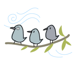 Birds in the forest 2 English ver. sticker #8019775