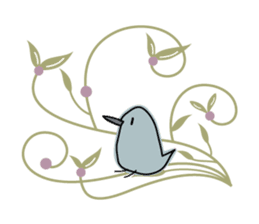 Birds in the forest 2 English ver. sticker #8019786