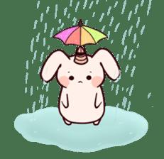Little Unicorn Bunny 2 sticker #8020445