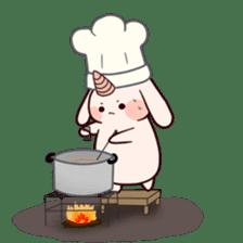 Little Unicorn Bunny 2 sticker #8020446