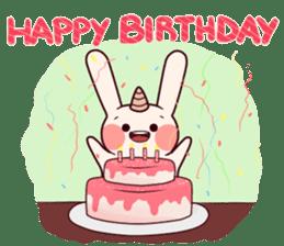 Little Unicorn Bunny 2 sticker #8020450