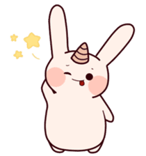 Little Unicorn Bunny 2 sticker #8020452