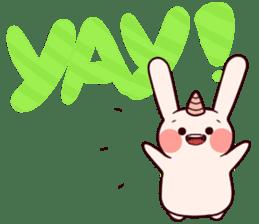 Little Unicorn Bunny 2 sticker #8020453
