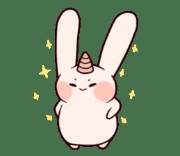 Little Unicorn Bunny 2 sticker #8020463