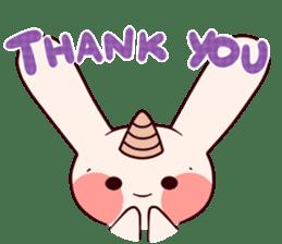 Little Unicorn Bunny 2 sticker #8020473