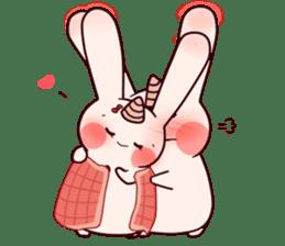 Little Unicorn Bunny 2 sticker #8020474