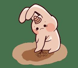 Little Unicorn Bunny 2 sticker #8020475